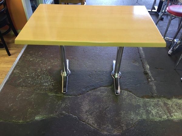 10x Chrome / Beech Laminated Tables