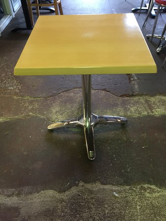 10x Chrome / Beech Laminated Square Tables