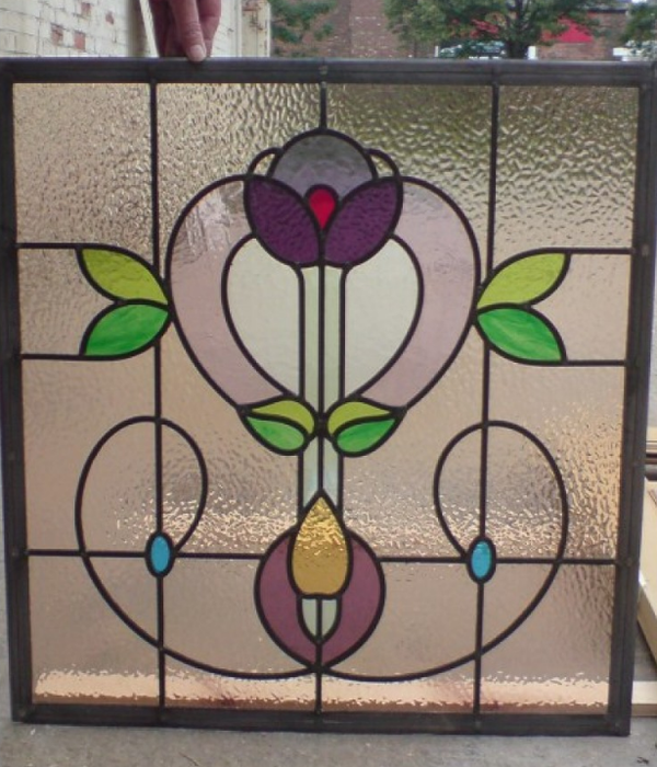 Hand made Edwardian stained glass panel
