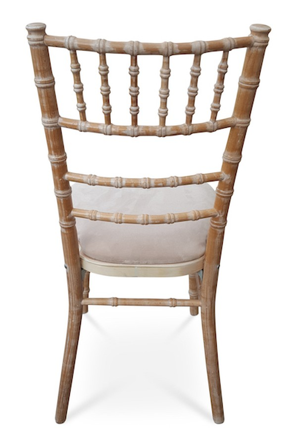Limewash Chiavari Chairs with Curved Backs