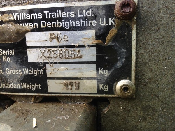 P6e 750kg Ifor Williams trailer for sale