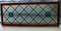 039 Handmade Stained Glass Overhead Panel