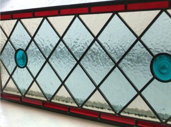 039 Handmade Stained Glass Overhead Panel