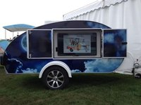 Media Advertising Teardrop Trailer