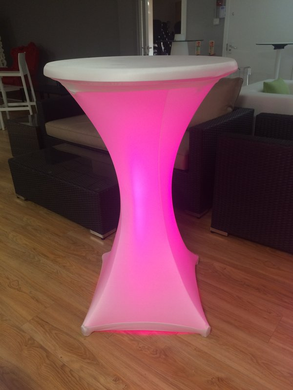 3x Illuminated Poseur Tables