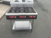 6 Range Gas Hob with Stand