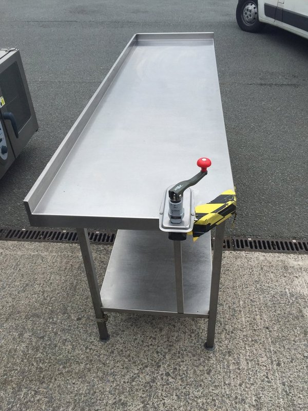 Stainless Steel Prep Table c/w can opener