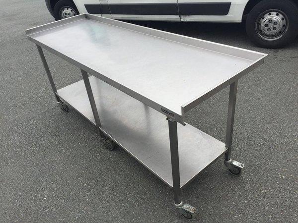 Stainless Steel Prep Table c/w wheels