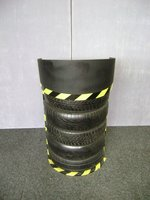 Pair of Tyre Motor Sport Lecterns