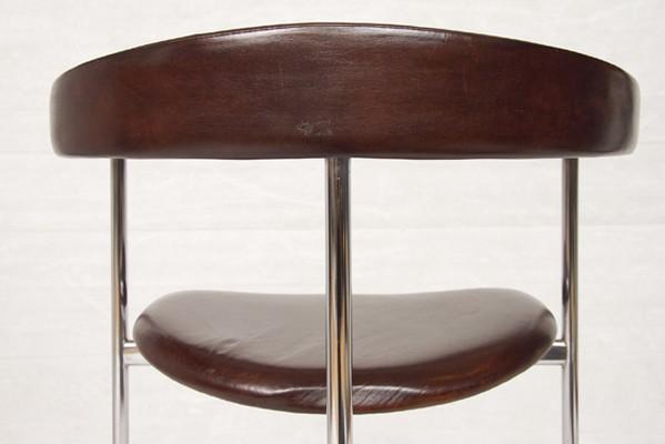 1970's Leather & Chrome Chair