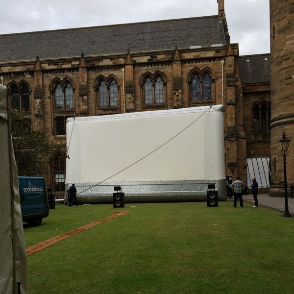"Giant 12m inflatable ""Airscreen"" Cinema Screen"