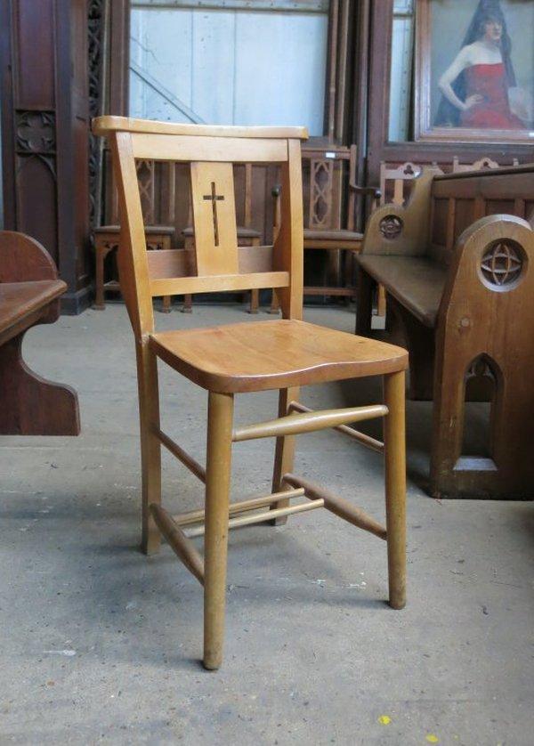 Harlech Beech Cross Back Chapel Church Chairs (E)