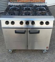 Falcon Dominator 6 Burner Gas Range Oven, immaculate