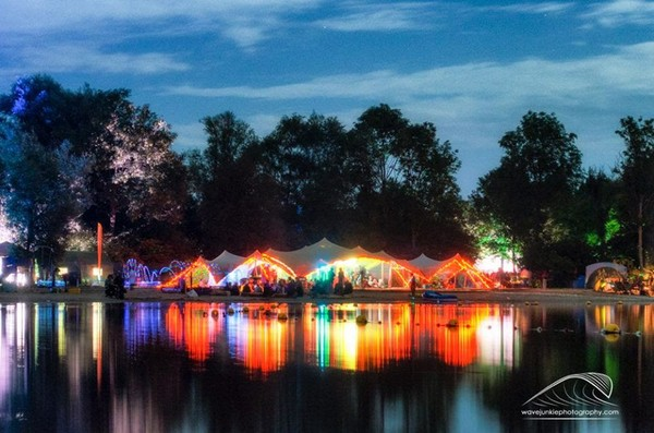 Festival chill out marquee