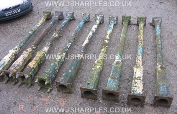 10x Matching Old Victorian Ornate Cast Iron Columns