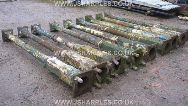 10x Matching Old Victorian Ornate Cast Iron Columns