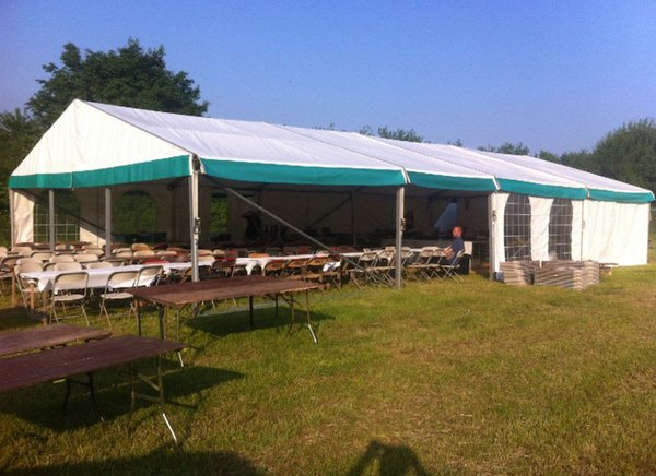 9m x 21m Barkers Marquees Clearspan Frame Marquee