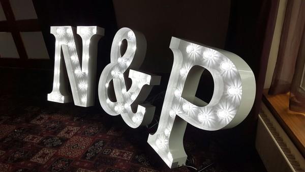 Full alphabet of light up letters