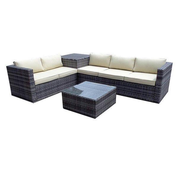 6 x Brand New Zante Corner Sofa Sets Complete with Corner Storage Box