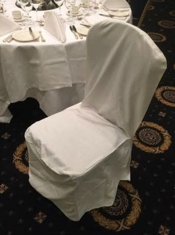 Ivory Cotton square top chair cover