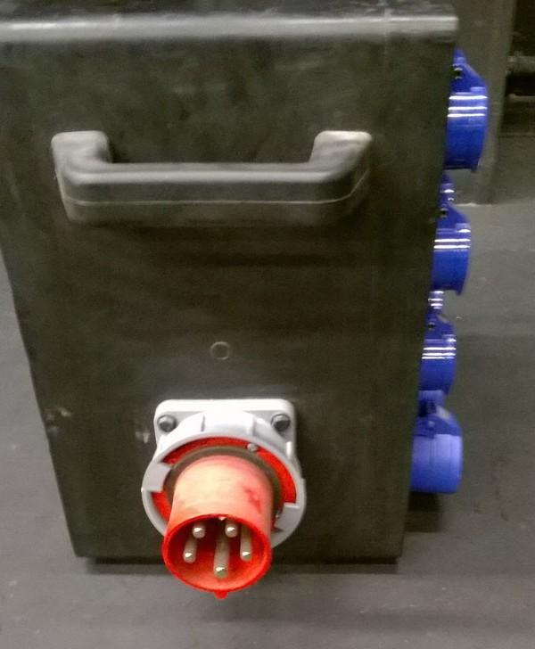 63A 3 Phase Rubber Distro Box