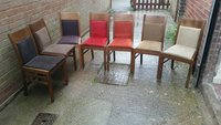 12x Mixed Fabric Upholstered Chairs