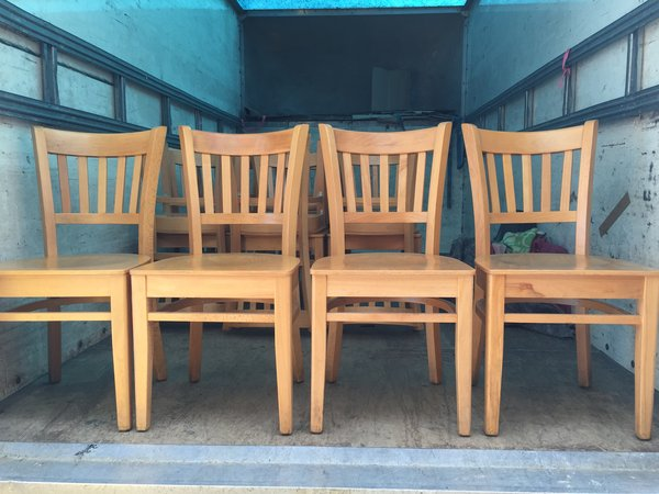 58x Pine wooden chairs