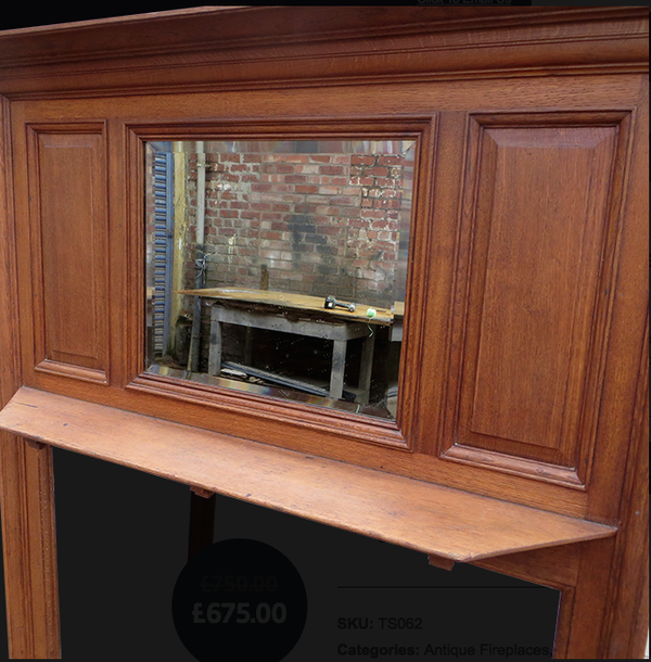 Oak Fireplace Surround for sale