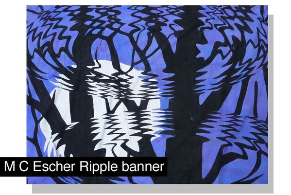 Escher Ripple UV Reactive Inflatables and Backdrops
