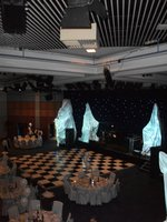 24ft x 24ft Black & White Chequerboard Dance Floor with Trolleys