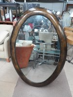 Bronze Oval Mirror