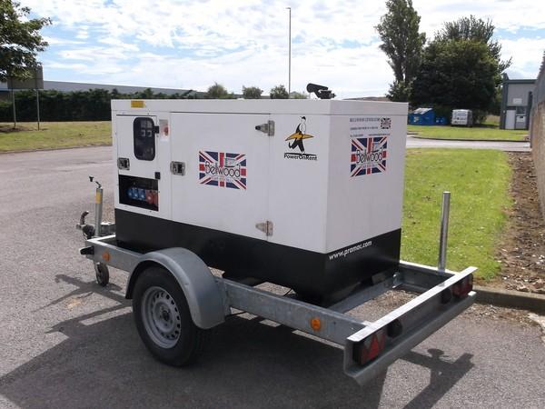 Pramac 30kva rental spec. silenced diesel generator