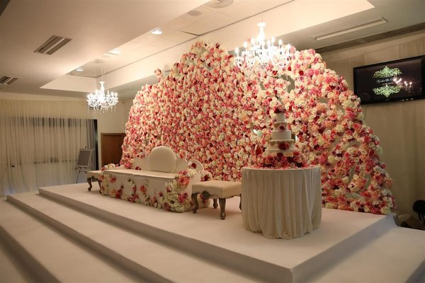 Flower wall wedding back drop