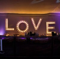 "Illuminated ""Love"" letters"