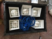 Essential Supplies Marquee Uplighters x 5