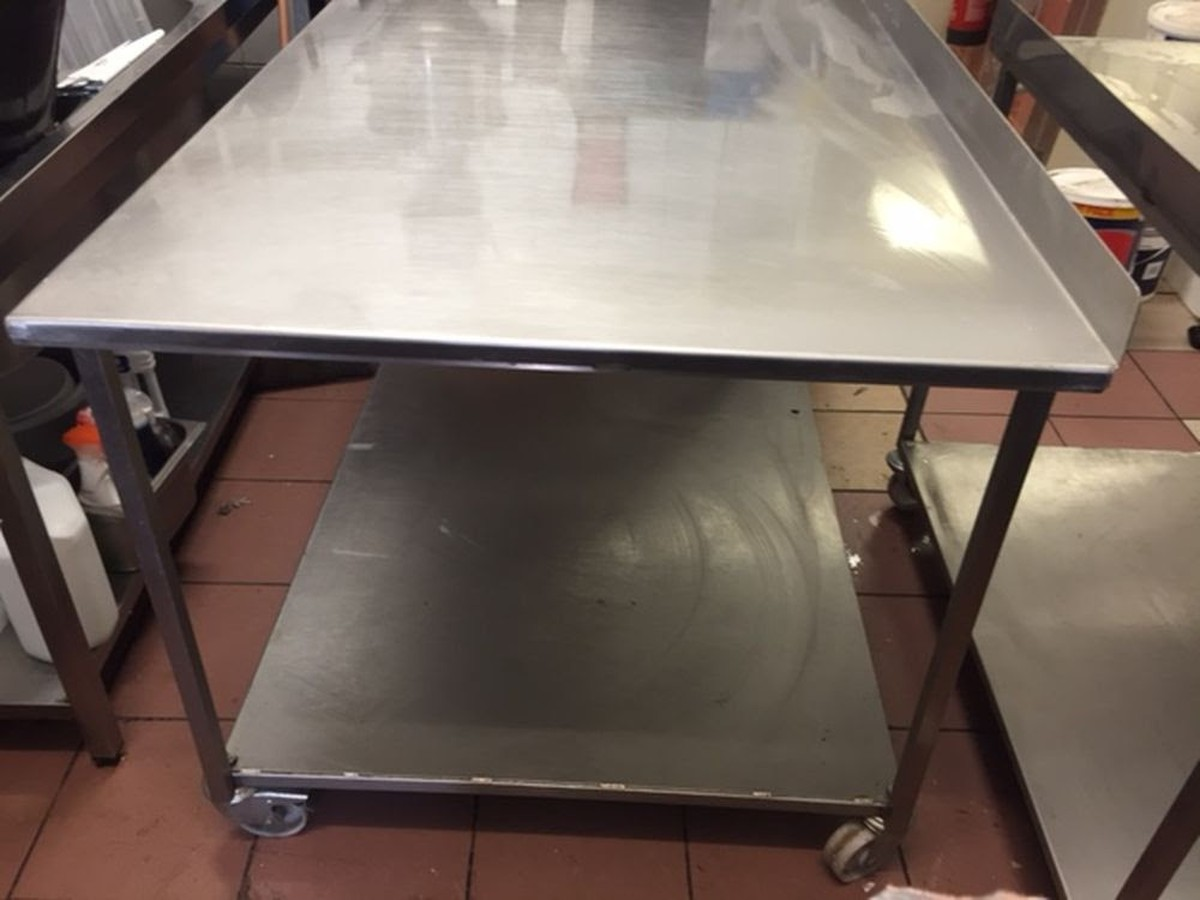 Secondhand Catering Equipment Stainless Steel Tables M To M - 6ft stainless steel table