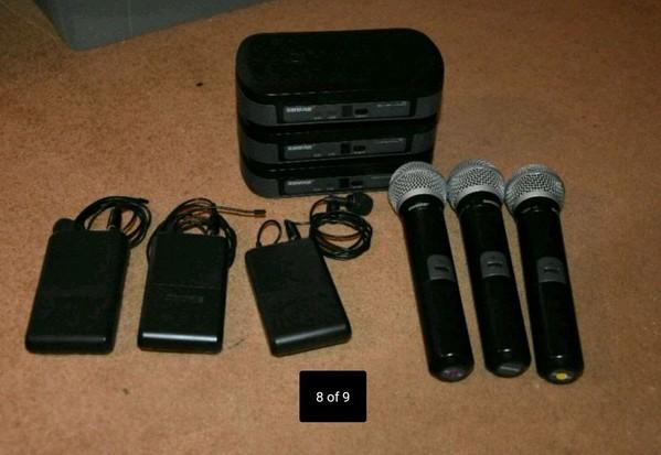 wireless Shure equipment