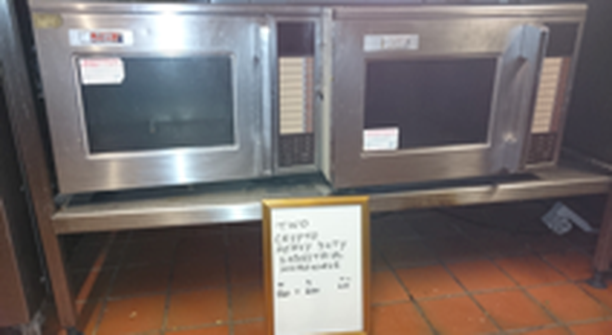 Secondhand Catering Equipment Microwave Cookers Crypto