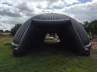 Black inflatable marquee