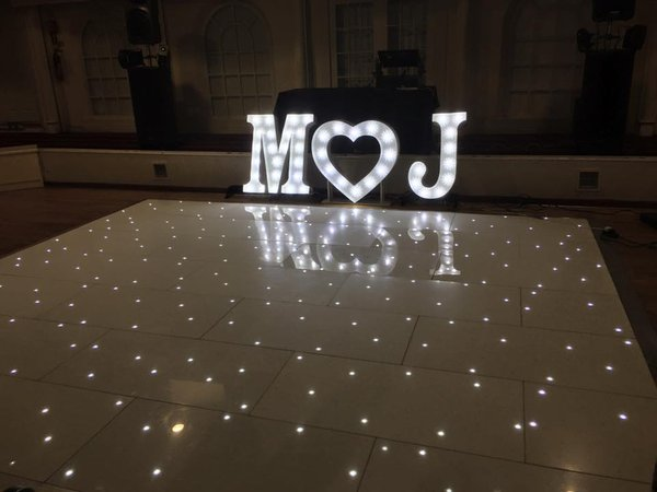 16ft x 16ft White LED Floor