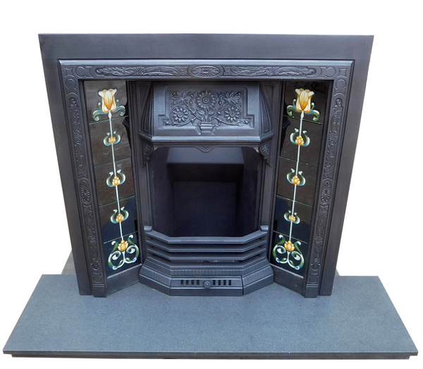 Antique Floral Fireplace Insert