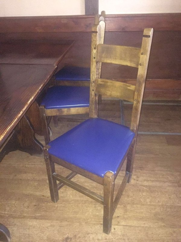 Solid Wooden Chair with Upholstery