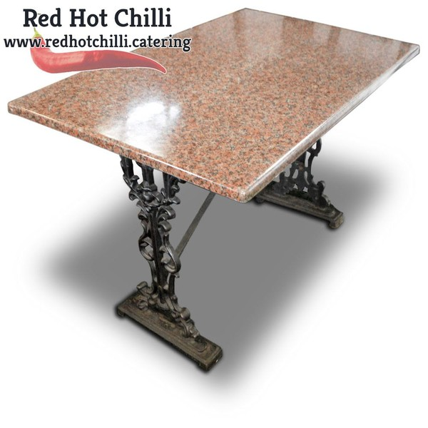 Marble Effect Table Cast Iron Base (Ref: RHC1785) - Warrington, Cheshire