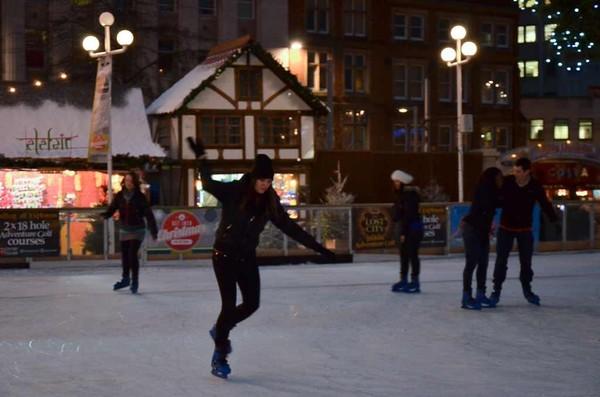 Real ice rink matt