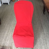 100x Red Linen Chair Covers
