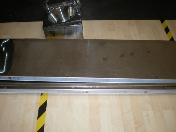 4x Stainless Steel 1.8m Wall Shelves