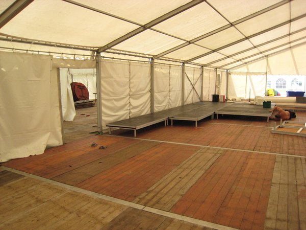 1/2 tent set 12m  Ivory lining gables