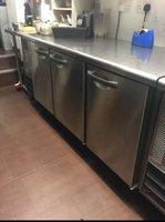 Hoshizaki FTE180SNA 3 Door Bench / Prep Freezer