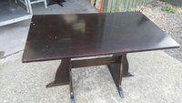 3 x Dark Wood Tables 120x70