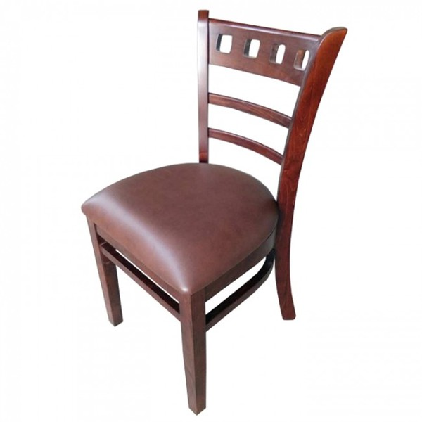 Dark Brown Enzo Walnut Restaurant Dining Chairs